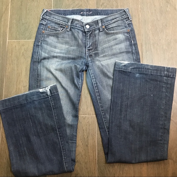 7 For All Mankind Denim - 7FAM 7 For All Mankind Dojo Jeans Pink Thread 30